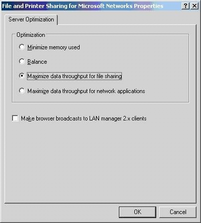 Updated: Lanmanserver and Lanmanworkstation Tuning