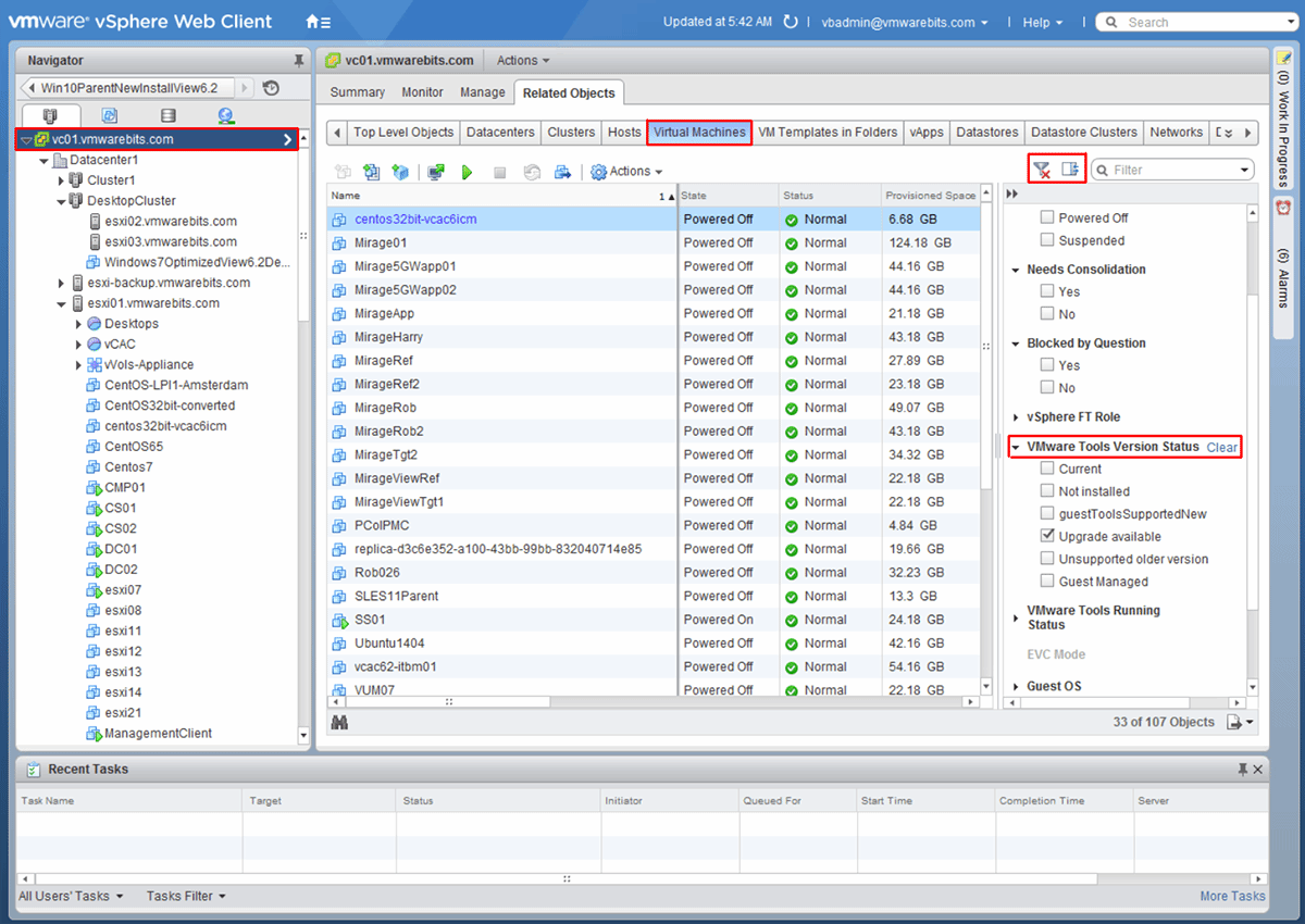 Methods for installing VMware Tools 10 on your ESXi host