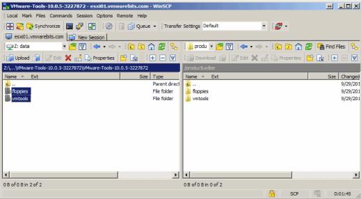 productLocker folder copied with WinSCP