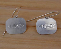 HTML tag earrings