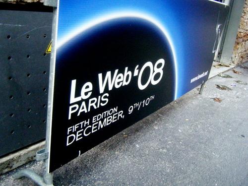 Le Web 08 sign