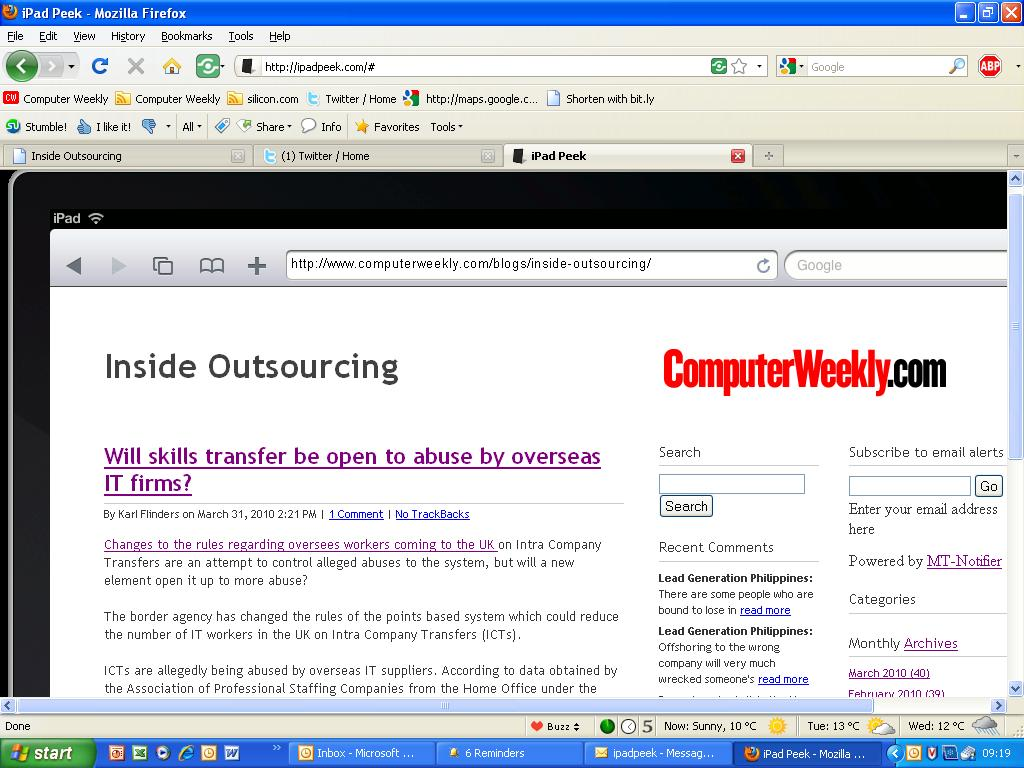 insideoutsourcing on ipad.JPG