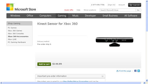 Microsoft Kinect (aka Project Natal) will cost £100 - IoT Agenda