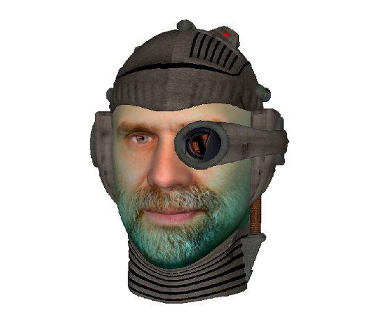 Bruce Schneier cyborg doll