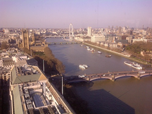 Drinks on the top of the Millbank Tower with Red Hat last night.jpg