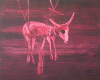 Ram in Thicket - Sidney Nolan - 1982 - Wolseley Fine Arts Catalogue - Prints 2009.png