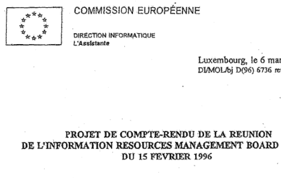 Draft minutes of Meeting Of Information Resources Management Board on Microsoft Licences - 15 FEB 1996 - splash.png