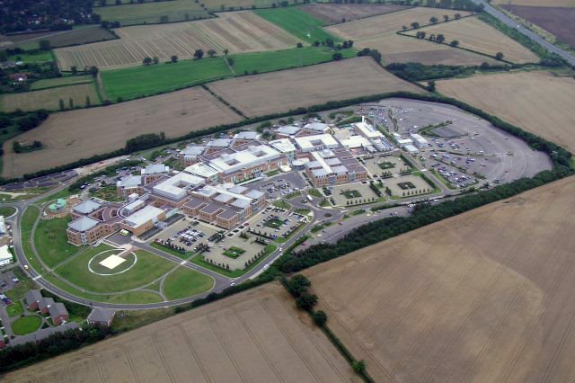 Norfolk and Norwich University Hospital - photo taken from the air by Katy Appleton - Aug 2005.jpg