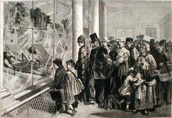 1874 Paris Morgue Crowded Viewing Window Death Coroner.png