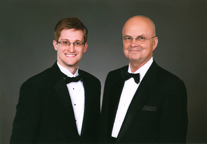 2011 - Edward Snowden and former NSA and CIA director General Michael Hayden.png