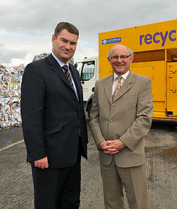 David Gauke - Exchequer Secretary - Spending Review visit to Bryson recycling Ltd in Belfast - 19 AUG 2010 - CROPPED 2.png