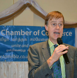 East Ham MP Stephen Timms at Tamil Chamber of Commerce meeting in east London - 16 JAN 2011.jpg