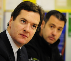 George Osborne - then shadow Chancellor - meets Bradford B&Q store staff on Get Britain Working tour - 2 OCT 2009.png
