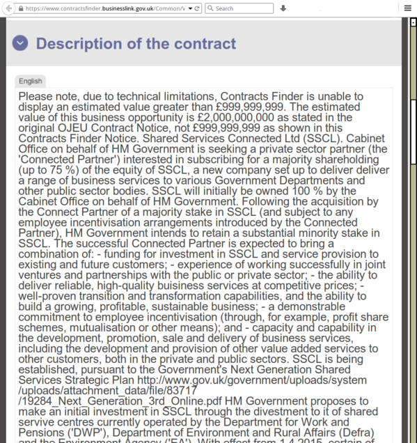 Cabinet Office Shared Services Connect Limited on Contracts Finder - November 2013 - CROP 2.png