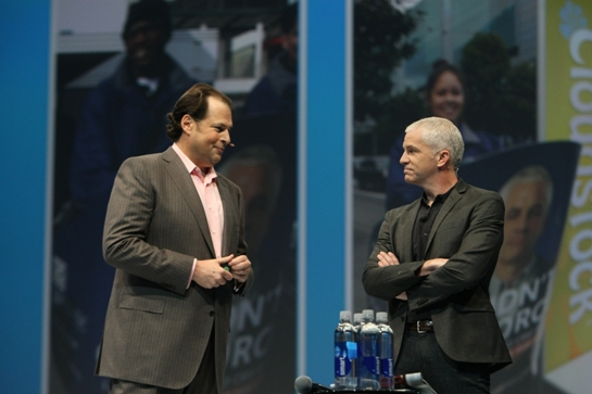 Marc Benioff happy to have Bernard back3.JPG