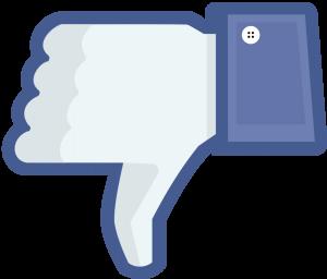 facebook thumb no like