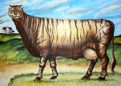 Tiger_Cat_Cow_by_leedeeyah