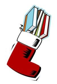 stocking full of books