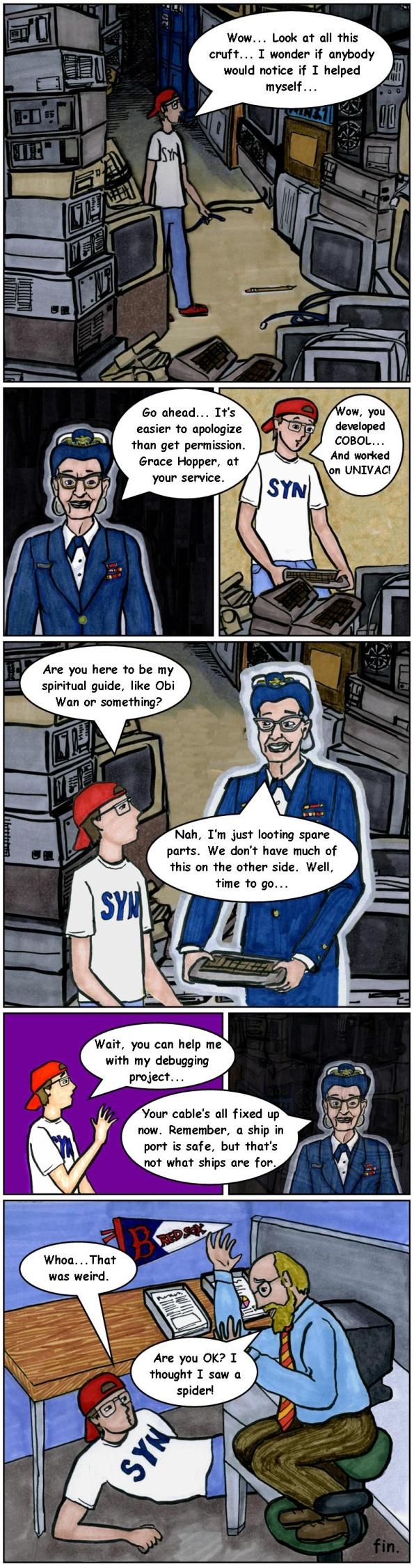 IT Guy cartoon Grace Hopper