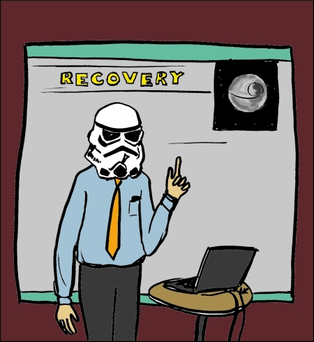 disaster recovery cartoon