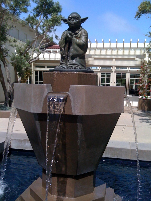 Yoda Fountain at LucasFilm offices