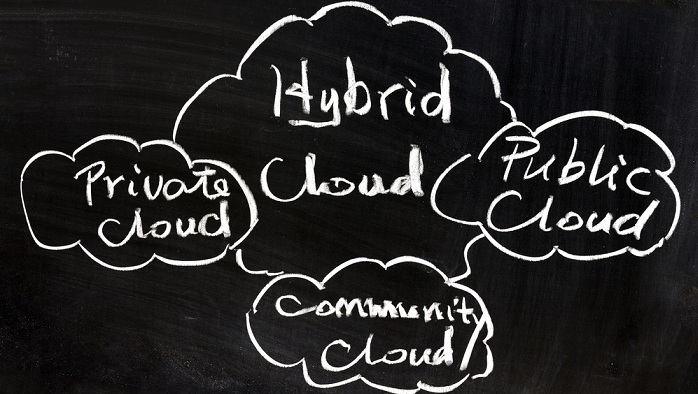 Image of hybrid cloud concept