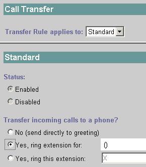 Call Transfer Settings