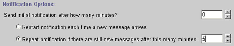 Message Notification Device Settings