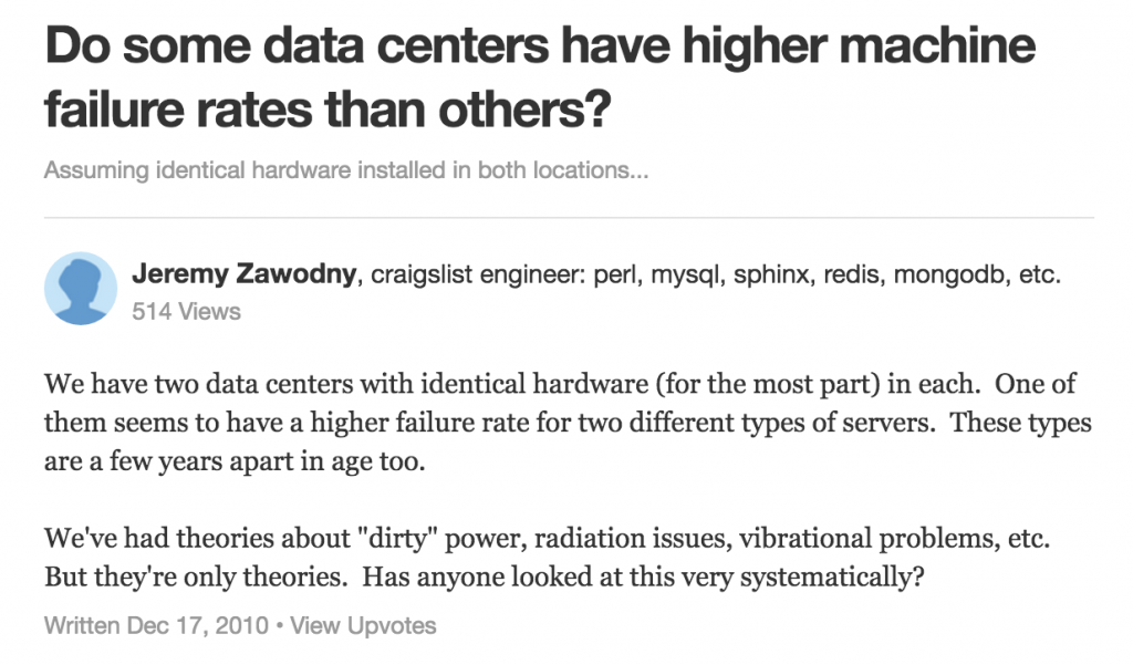 Quora, data center, DCIM tools, DCIM, data center infrastructure management, TechTarget, failure rate