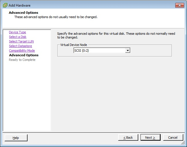 Giving your Virtual SQL Server direct access to your Storage