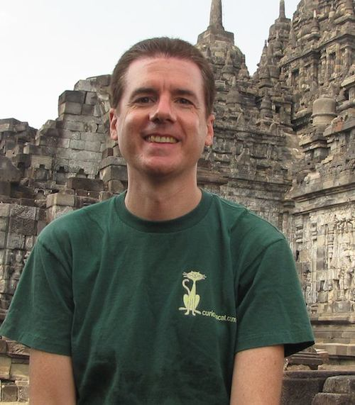 John Hunter in Candi Sewu (Indonesia)