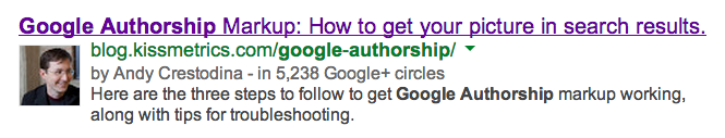 A Google Authorship link example