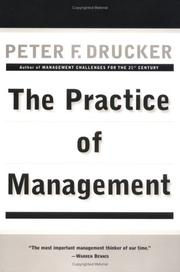 Book Cover: The Practice of Management