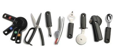 OXO tools designed for better handling.