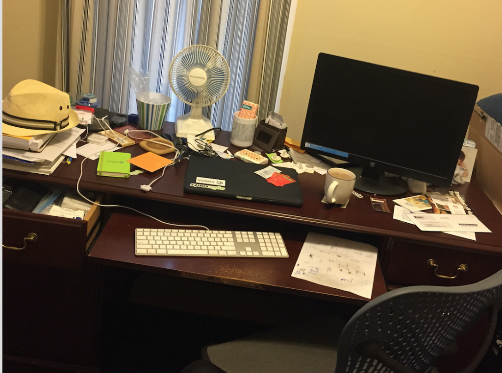 Matt's messy desk