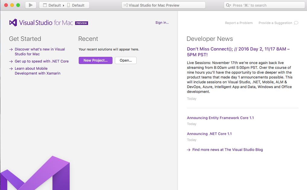 True Visual Studio for Mac