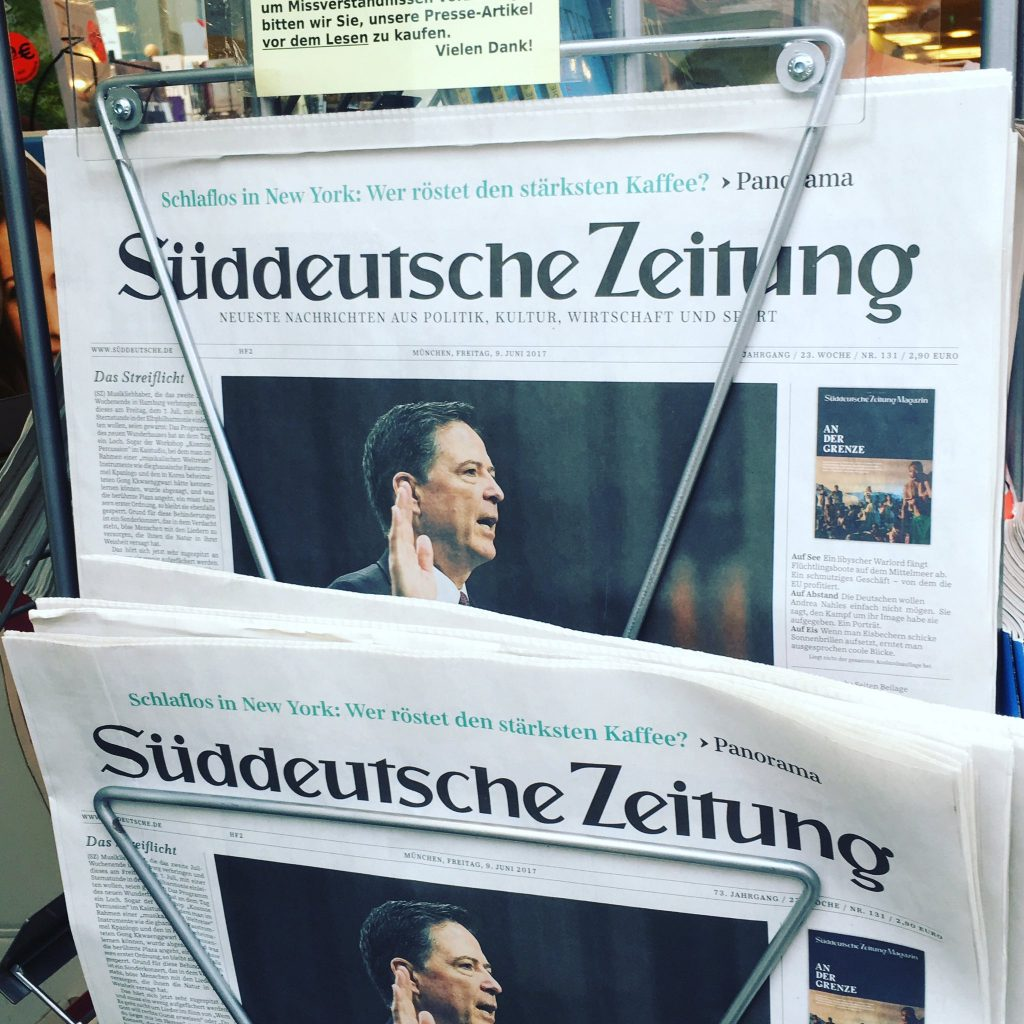 Comey In a German Newspaper