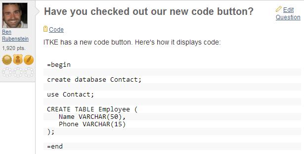 Image of displayed code