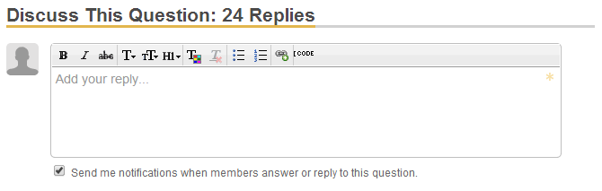Screenshot of comment notification checkbox