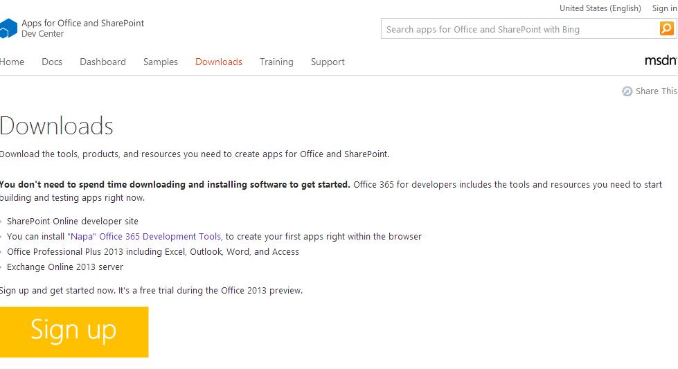 OfficeAppNapaDevDownloads
