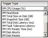VM Alarm Triggers
