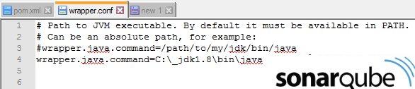 Edit wrapper.conf to fix jvm.dll is missing error
