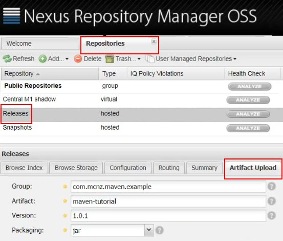 Nexus repository manager tutorial: Get started with the OSS Maven
