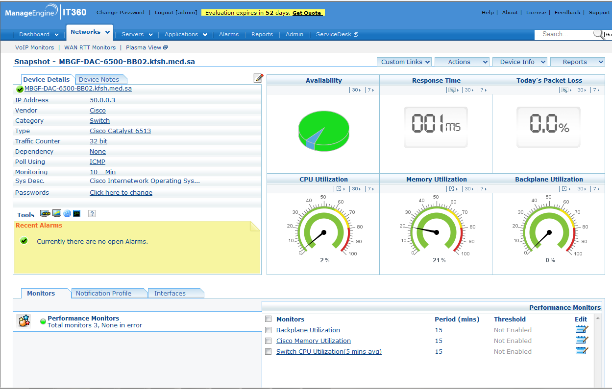 ManageEngine IT360 makes the Business Service Management Easy - Network technologies and trends