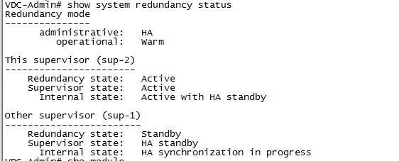 How to enable redundant Supervisor Engine in Cisco Nexus