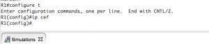 IP Cef Configuration