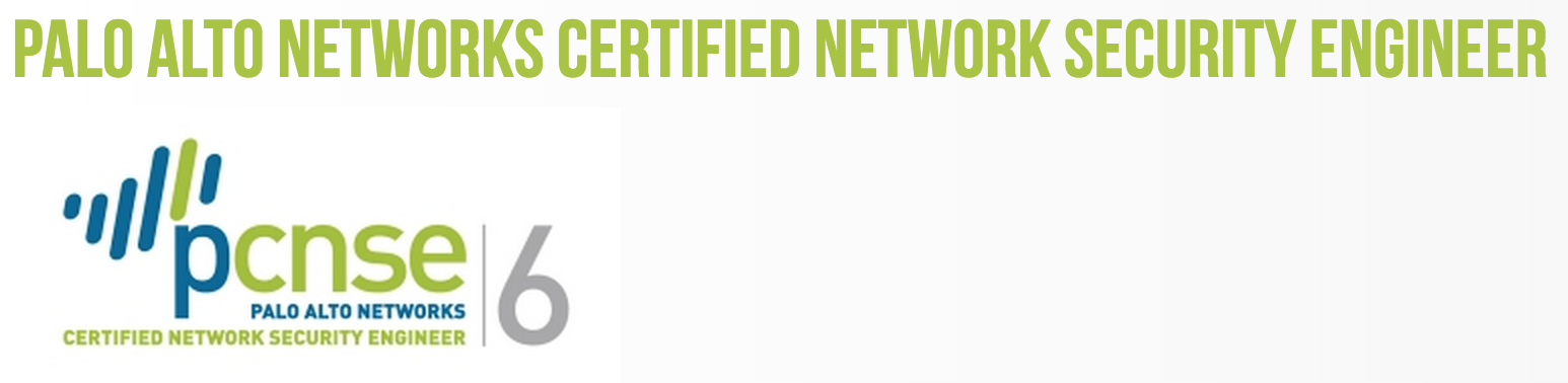 Palo Alto Networks Certification Tracks Network Technologies And