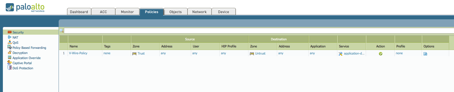 Palo Alto Cannot Ping Gateway