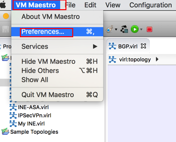 How to configure Cisco VIRL - VMMaestro to use external