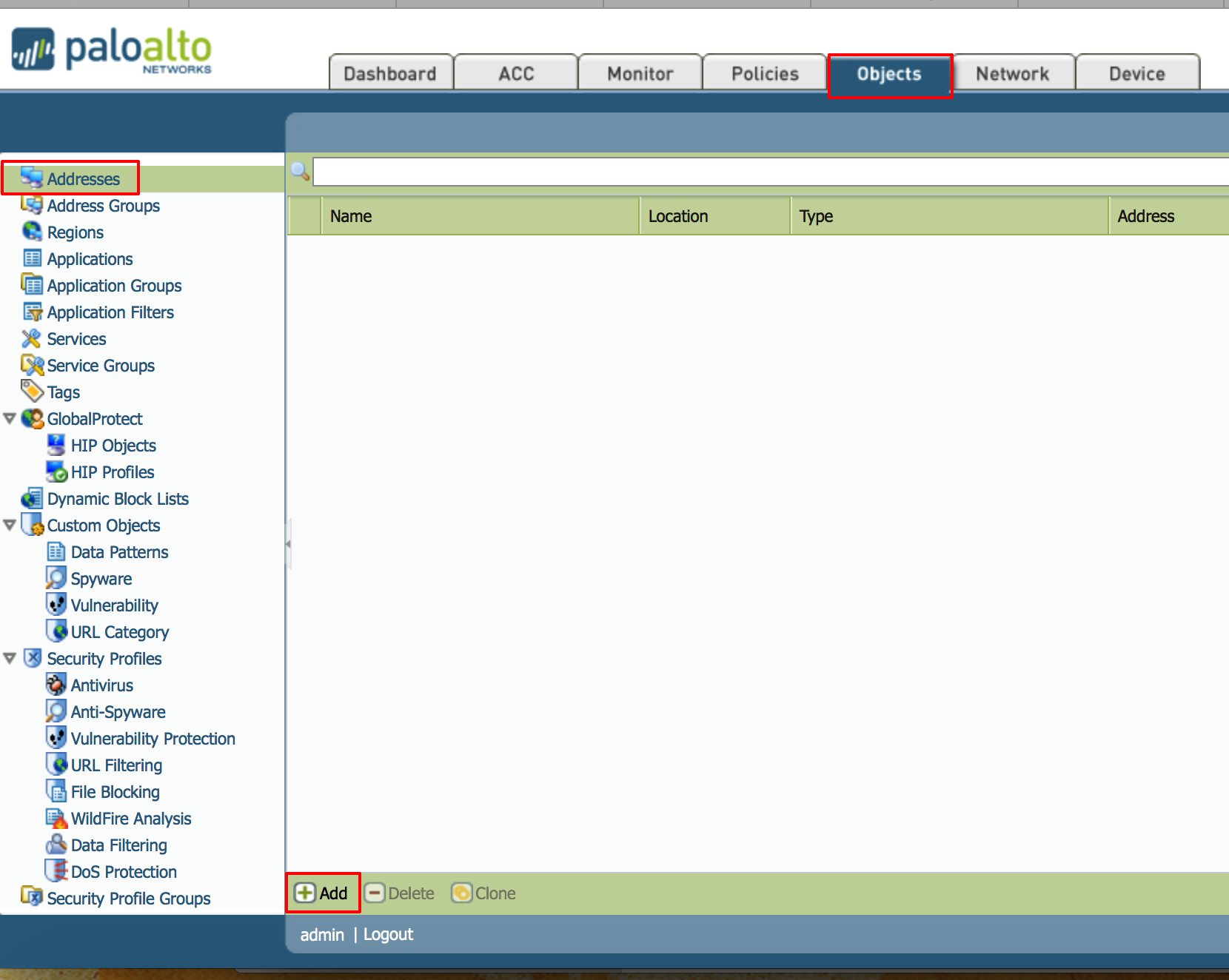 What are Address Objects in Palo Alto Networks Next